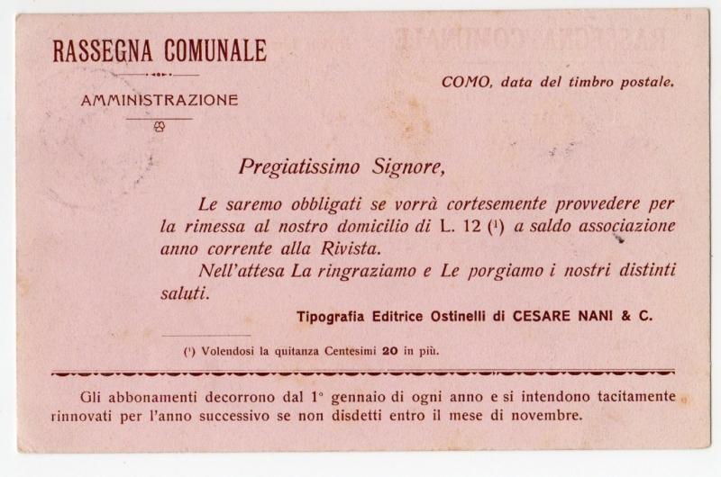 reverse: Cartoline Enti/Commerciali