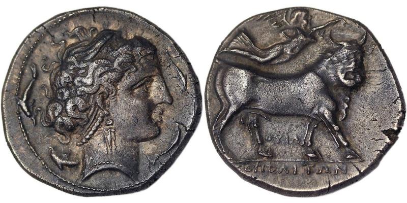 obverse: Neapolis didracma