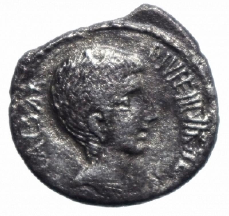 obverse: augusto denario