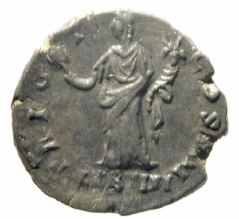 reverse: Impero Romano. Antonino Pio. 138-161 d.C. Roma. 145-161 d.C. Denario. Ag. D\ ANTONINVS - AVG PIVS P P Testa laureata verso destra. R\ TR POT - COS IIII / LIB IIII. RIC III 155. Peso 3,39 gr. Diametro 17 mm. BB+.