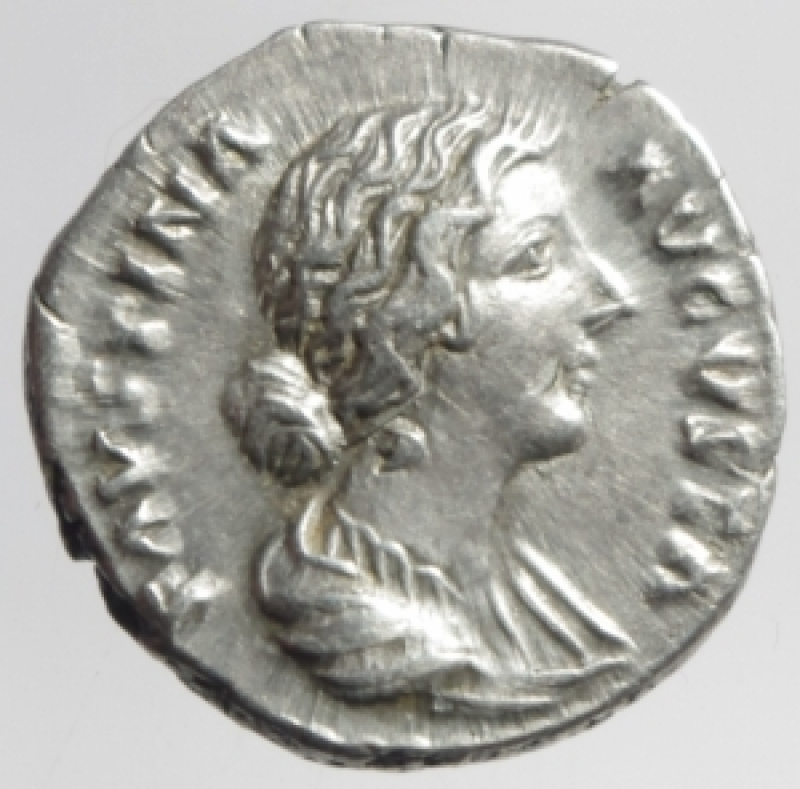 obverse: faustina II denario