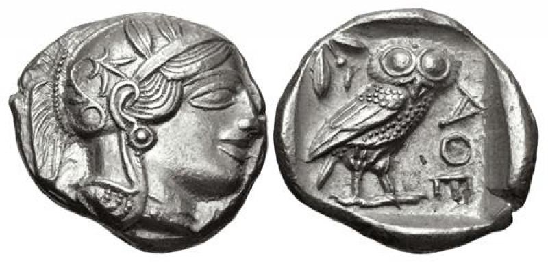 obverse: Attica Atene tetradracma