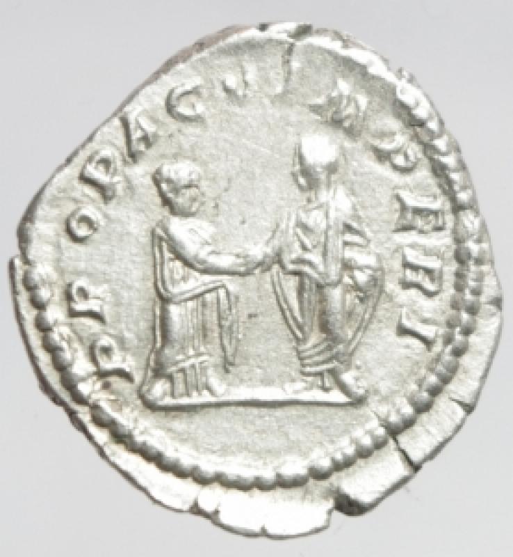 reverse: plautilla denario