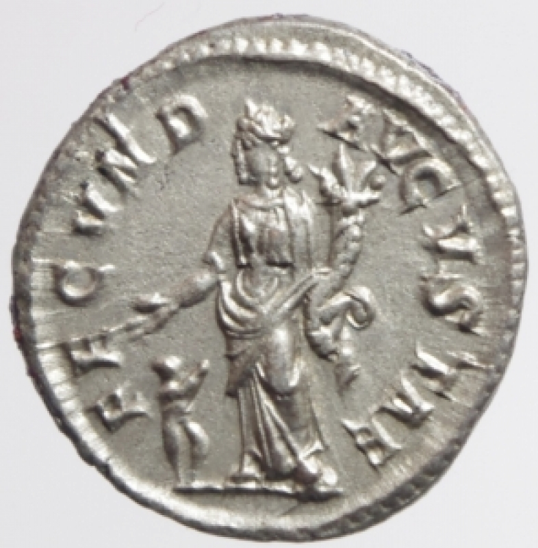 reverse: giulia mamaea denario
