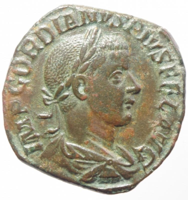 obverse: gordiano III sesterzio