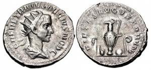 obverse: erennio etrusco antoniniano