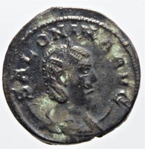 obverse: Impero Romano. Salonina. 253-268 d.C. Antoniniano. D/ SALONINA AVG Busto verso destra. R/ IVNO REGINA Giunone con scettro e patera. Peso 4,00 gr. Diametro 22 mm. SPL.