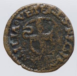 reverse: Zecche Italiane.Reggio Emilia (1471-1505). Bagattino con busto virile Ercole dEste (1471-1505).NC MIR 1268 CU mm 16 g. 1,77 .MB.Ex Asta Aurora 1 lotto 426