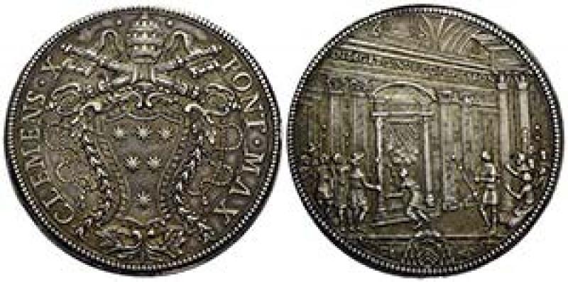 obverse: piastra Clemente X