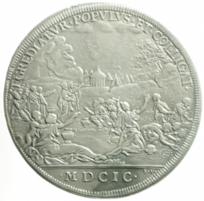 reverse: piastra innocento XII