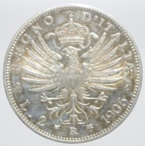 reverse: 2 lire 1906