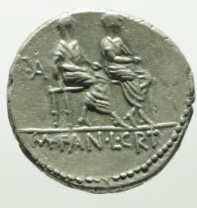 reverse: critonia denario