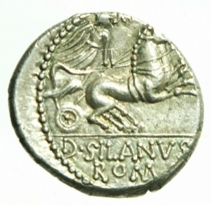 reverse: denario Junia