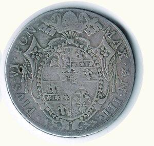 reverse: BOLOGNA - Pio VI A. III - Scudo da 100 Bolognini