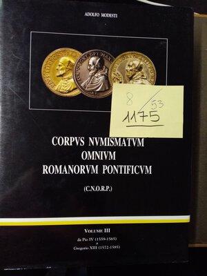 obverse: MODESTI A. CORPVS NUMISMATVM OMNIVM ROMANORVM Vol.3