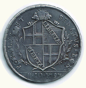reverse: BOLOGNA - Governo Popolare - 10 Paoli 1797.