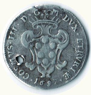 LIVORNO Cosimo III - Quarto di Pezza della Rosa 1697