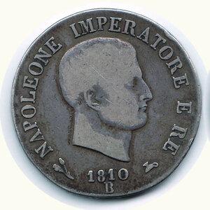 obverse: BOLOGNA - Napoleone - 5 Lire 1810.