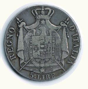 reverse: BOLOGNA - Napoleone - 5 Lire 1810.