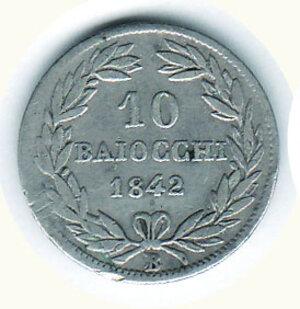 obverse: BOLOGNA Gregorio XVI  - 10 Baiocchi 1842