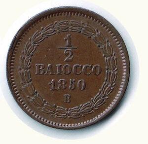 reverse: BOLOGNA - Pio IX ( 1846-1878) - ½ Baiocco 1850.