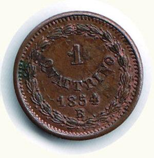 reverse: BOLOGNA - Pio IX - Quattrino 1854 A. IX