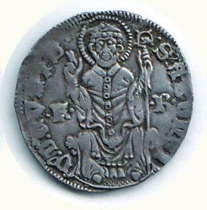 reverse: COMO Franchino I Rusca (1327-1335) Grosso a nome di Ludovico il Bavaro D/Aquila a s.; R/Il Santo assiso di fronte tra F - R. C.N.I. 183/4. g.2,01.