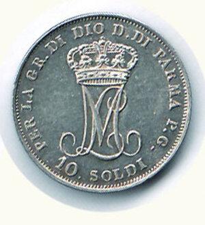 reverse: PARMA - Maria Luigia - 10 Soldi 1815.