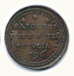 reverse: PERUGIA - Pio VI - San Pietrino 1796.