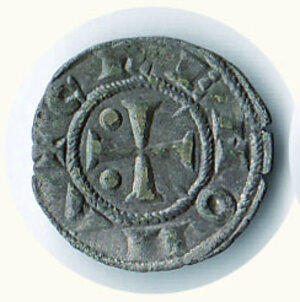 obverse: CREMONA Comune (1155-1330) Mezzanino  D/Croce patente con bisante nel I e II angolo, spina nel III e IV angolo, R/ -/P.R./I - C.N.I. 190/13. - g.0,66.