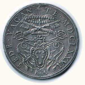 reverse: ROMA - Sede vacante 1676 - Scudo