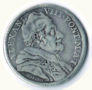 obverse: ROMA - Alessandro VIII - Testone