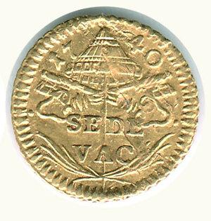 reverse: ROMA - Sede vacante 1740 - Camerlengo Albani - 1/2 Scudo.