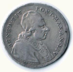 obverse: ROMA - Benedetto XIV (1740-1758) - Scudo 1753
