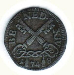 reverse: ROMA - Benedetto XIV - Muraiola da 2 Baiocchi.