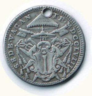 obverse: ROMA - Sede Vacante 1758 - Doppio Giulio