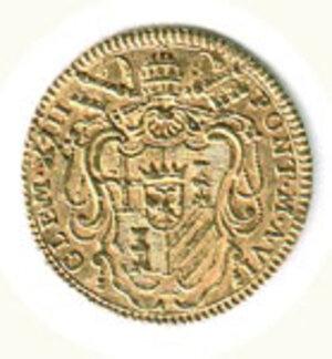 obverse: ROMA - Clemente XIII (1758-1769) - Zecchino - A. VI.