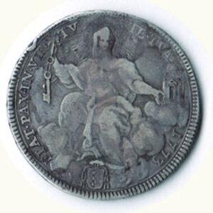 obverse: ROMA - Clemente XIV- 1/1 Piastra 1773 - A. IV.