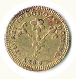 obverse: ROMA - Pio VI (1775-1799) - Doppia 1786.