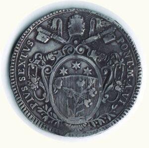 reverse: ROMA - Pio VI - Scudo 1780