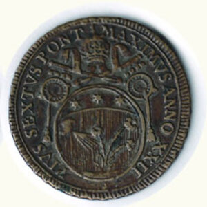 reverse: ROMA - Pio VI (1775-1799) - 60 Baiocchi 1797