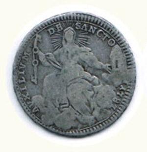 obverse: ROMA - Pio VI - Doppio Giulio 1787 - A. XIII.