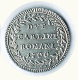 reverse: ROMA - Pio VI - Due Carlini romani 1796