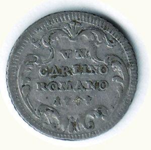 reverse: ROMA - Pio VI - Carlino 1777.