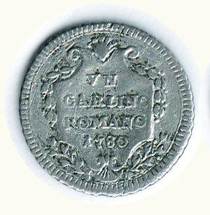obverse: ROMA - Pio VI - Carlino romano 1780.