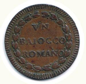 reverse: ROMA - Pio VI - Baiocco SD - A. IX.
