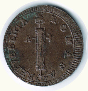 obverse: ANCONA - II Repubblica Romana - 2 Baiocchi