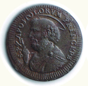 obverse: ROMA Pio VI - 2 1/2 Baiocchi 1796