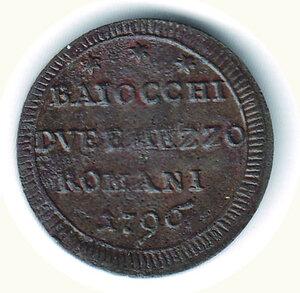 reverse: ROMA Pio VI - 2 1/2 Baiocchi 1796