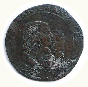 obverse: SAVOIA - Carlo Emanuele II (1638-1675) - Reggenza - Mezza Lira 1642